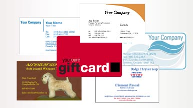 business card printing mississauga